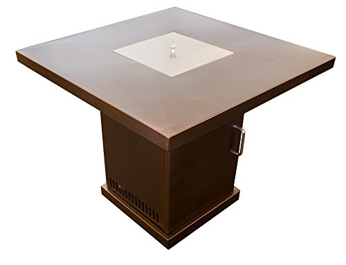 Hiland Gsf Pr Pc Fire Pit In Hammered Bronze And Stainless