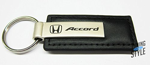 (Honda Accord Black Leather Key Chain, Official Licensed Product)