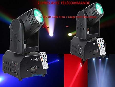 2 anclaje LED Beam potente 4-en-1/efecto estroboscopio - Arco en ...