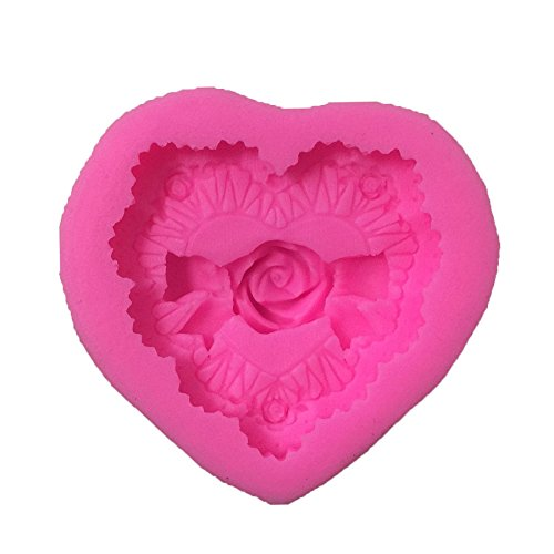 Heart Pattern Silicone Fondant Cake Decorating Tool Baking M