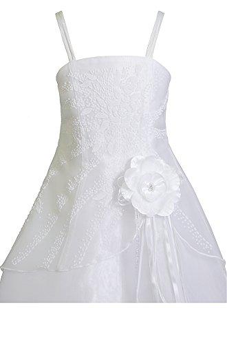 AMJ Dresses Inc Big Girls' White Flower Pageant Dress S3208 Sz 16