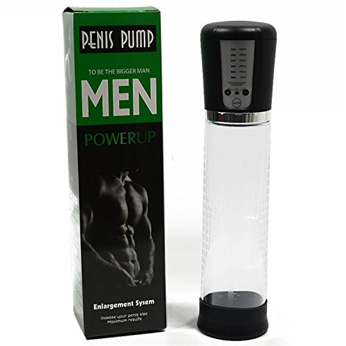 Electric Automatic Penis Pump USB Rechargeable Penis Enlarger Vacuum Pump Powerful Penis Enlargement Extender Sex Toys for Men Black by Hello-one Adults Toys