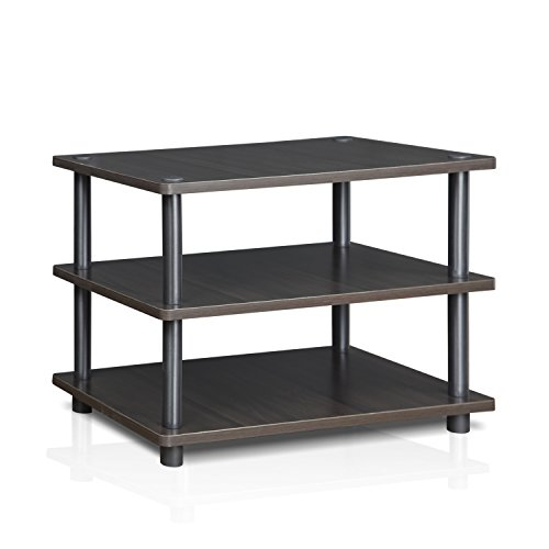 Furinno Turn-N-Tube Easy Assembly 3-Tier Corner TV Stand 15094CC/GY, Espresso