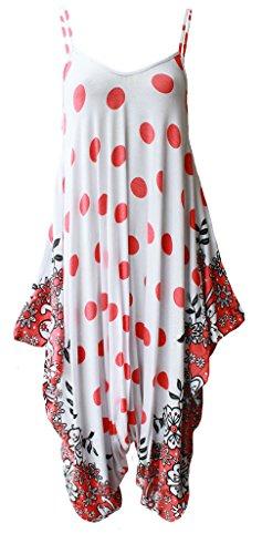 WearAll - Robe - A bretelles - Sans Manche - Femme multicolore Multicoloured -  multicolore - 50