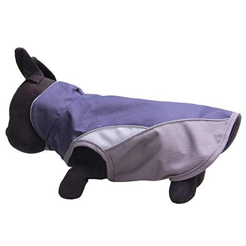 (WELCOMEUNI Waterproof Dog Outdoor Reflective Jacket Coats Comfy Vest Pet Apparels Windbreaker Clothes Gray)