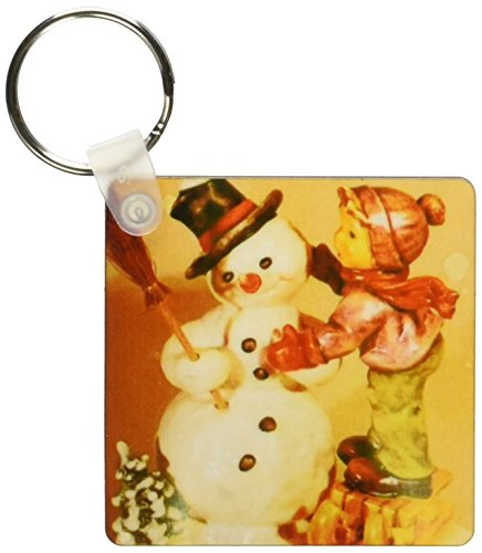 3dRose Snowman Hummel Key Chains, Set of 2 (kc_34692_1)