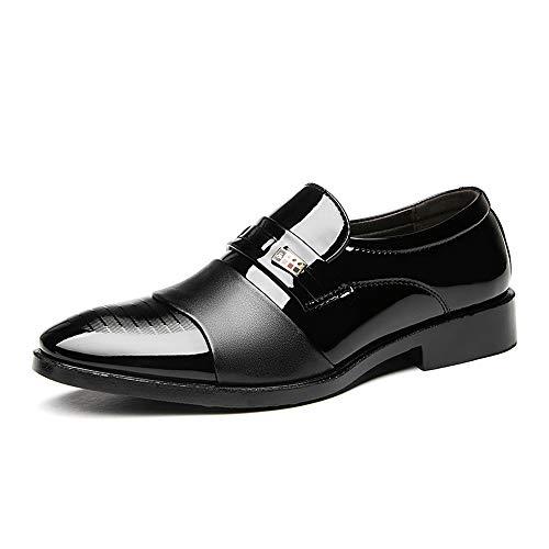 48 Brown 46 45 Tela Blancos zapatos Negros Lona De Hombres Cn Cuero S Colores La Clásicos Vestir Boda Formales Tamaño Para Pu negro 47 Artificiales Zapatos Negocios HxHprnSq