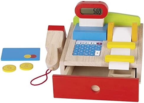 Goki – Caja registradora con Scanner – Calculadora con Tapa – Vrai Display, 8651575, 22 x 18 x 14 cm: Amazon.es: Juguetes y juegos