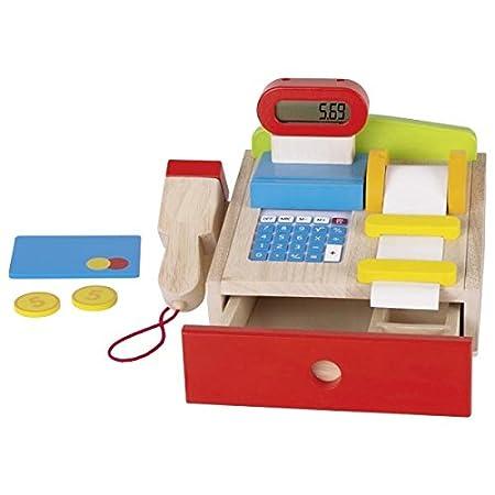 Goki – Registrierkasse mit Scanner – Taschenrechner – echtes Display, 8651575, 22 x 18 x 14 cm