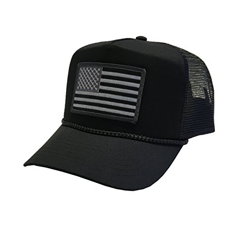 P B Usa Flag Embroidery Patch United States Of America Adjustable Mesh Unisex Adult Cap 4Th Of July Patriotic Hats  Black Mesh