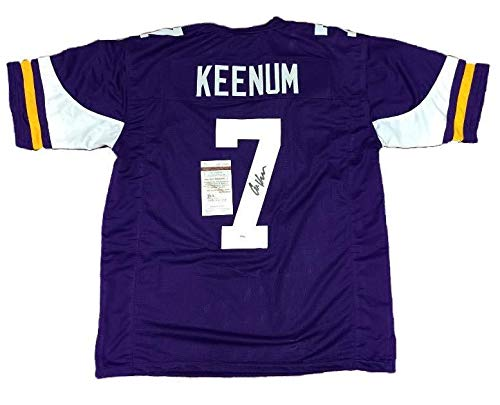Case Keenum Autographed Signed Minnesota Vikings Purple Football Jersey #1 Memorabilia - JSA Authentic