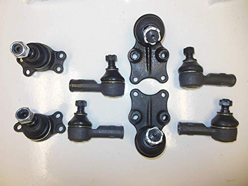 Aftermarket 8 Pcs. Kit 2 Upper 2 Lower Ball Joints 2 Inner 2 Outer Tie Rod End Right and Left Side