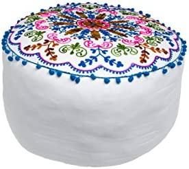 Marrakesch Jivan - Puf (algodón, 50 cm, con Relleno, Redondo ...