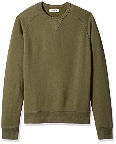 Goodthreads Men's Crewneck Fleece Sweatshirt, Olive, Large