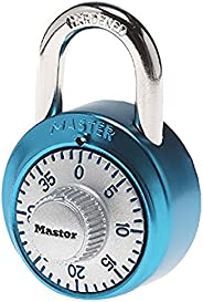 Master Lock 1561DLTBLU Locker Lock Combination Padlock, 1 Pack, Light Blue