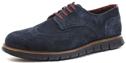 London Brogues Gatz, Herren Stiefel Marineblau/Blau