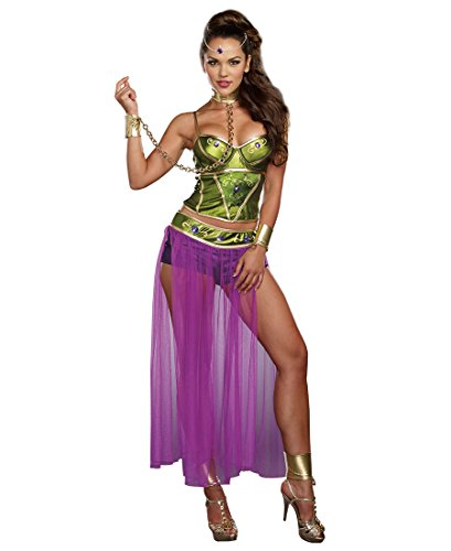 Sexy Slave Princess Costumes (Dreamgirl 9845 Slave Princess Sexy Womens Costume - X-Large - Green/Purple)