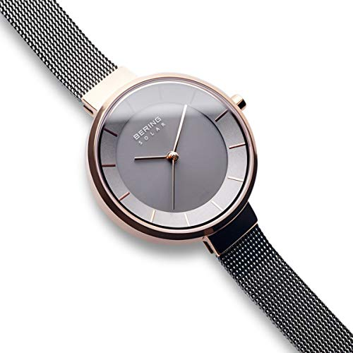 BERING Time 14631-369 Solar Collection Slim Watch with Mesh Strap and Scratch Resistant Sapphire Crystal. Designed in Denmark