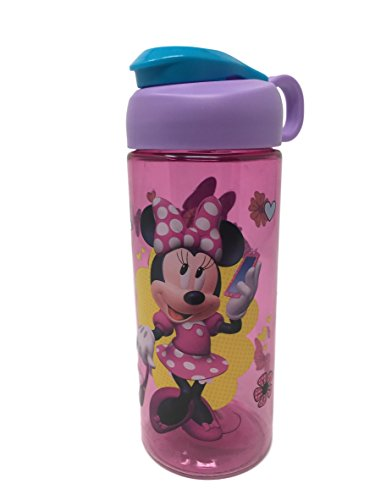 Zak Designs BPA Free 16.5 oz Boys & Girls Licensed Character Cold Water Bottles -Carry Loop & Snap Lid (Minnie & Daisy Duck -