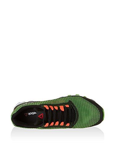 Reebok Hexaffect Storm, Zapatillas de Running para Hombre Verde / Negro / Rojo / Blanco (Solar Green/Black/Atomic Red/White/Brt G)