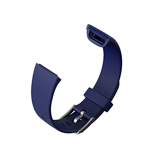 Kirlor TPU Replacement Bands Straps for Fitness Tracker Watch V10 (Blue)