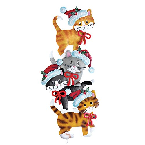 Stack of holiday cats yard decor import it all for Christmas cat yard decorations