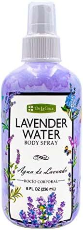 De La Cruz Lavender Water Spray, No Parabens, Artificial Colors, or Artificial Fragrances, Made in USA 8 FL. OZ.
