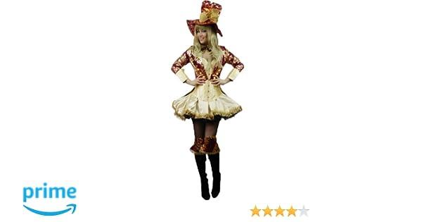 Yummy Bee Disfraz de Cuento de Sombrerero de la Fiesta del Té Divinamente  Seductor Mad Hatter Fiesta de Disfraces Mujer Lujo Alicia Maravillas Talla  Grande ... e2973c389e2