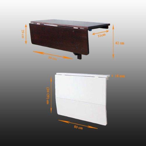 Sobuy® Küchentisch, Wandklapptisch, Esstisch, Schreibtisch, 2X