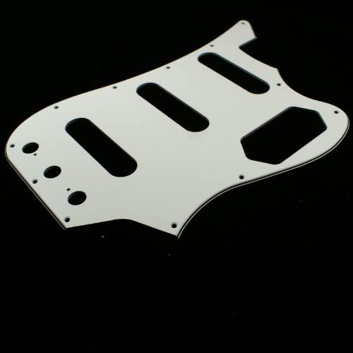 3ply White E63 Custom Guitar Pickguard for Harmony H22 Bass Guitar