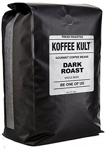 Koffee Kult DARK ROAST COFFEE BEANS (Whole Bean 5 Lbs) – Highest Quality Specialty Grade Whole Bean Coffee – Fresh Gourmet Aromatic Artisan Blend
