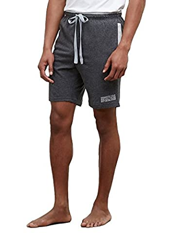 Kenneth Cole REACTION Men's Comfortable Jersey Sleep Short, Dark Grey Heather, Small