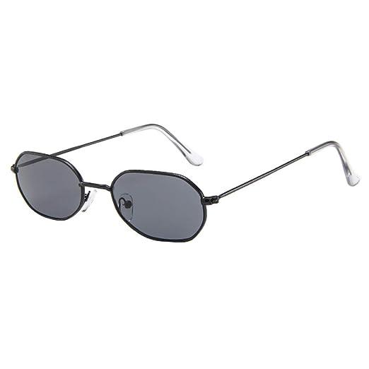 d903d957c8b Amazon.com  Women Men Vintage Retro Glasses TANGSen Unisex Small Frame  Beach Sunglasses Casual Fashion Outdoor Eyewear  Clothing