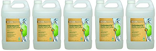 Earth Friendly Products Proline PL9720/04 Dishmate Pear Ultra-Concentrated Liquid Dishwashing Cleaner, 1 gallon Bottles (Case of 4) (5-(Case of 4)) by Earth Friendly Proline