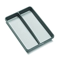 Kitchen madesmart Classic Mini Utensil Tray – Granite | CLASSIC COLLECTION | 2-Compartments | Kitchen Organizer | Soft-grip… silverware organizers
