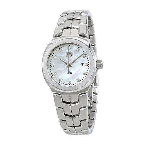 (Tag Heuer Link Mother of Pearl Diamond Dial Ladies Watch WBC1312.BA0600)