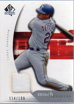 (2005 SP Authentic Jersey #66 Mark Teixeria Jersey Card Serial)