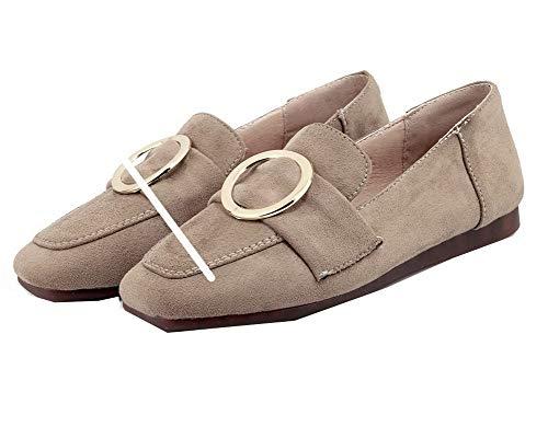 Carré Tire Bas Femme Chaussures Unie Légeres TSFDH005724 Beige Couleur AalarDom à Talon Hxqf5Ewqg