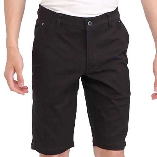 MIZUNO(ミズノ) 綿混ストレッチムーブパンツショート (メンズ) ゴルフ ウエア ムーブコレクション (52MF8035) 09ブラック 09ブラック 3XL