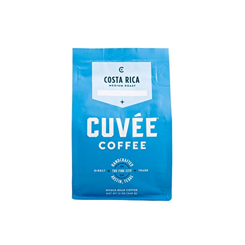 Cuvée Whole Bean Coffee, Costa Rica Single Origin Medium Roast, Direct Trade,...