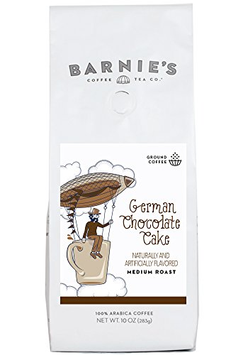 Barnie's Coffee, German Chocolate Cake Ground Coffee, 10 Ounce