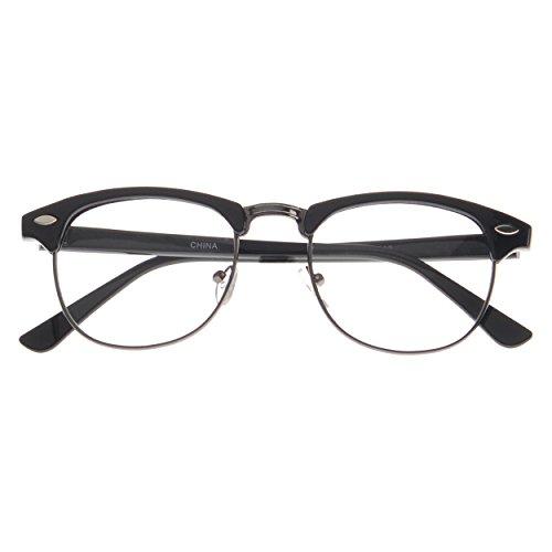 MLC Eyewear Retro Horn Rimmed Fashion Glasses Classic Cool Edition