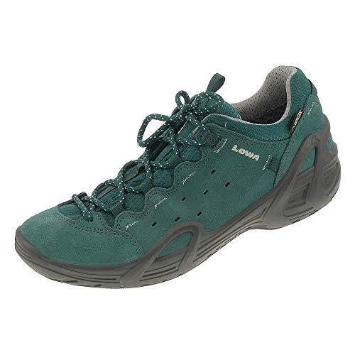 Zapatos Mujer Eu De Low Verde Cuero Petróleo Cordones Para 37 FdXgnX