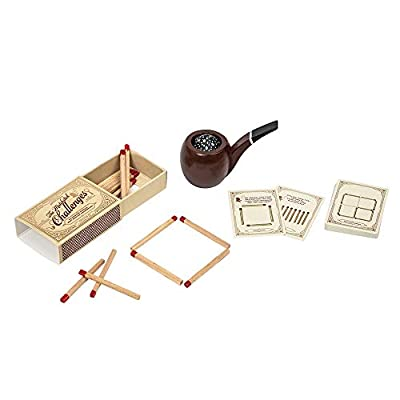 Sherlock Holmes - The case of The Smoking Pipe - Mystery Puzzle/Matchstick Challenge Set by Professor Puzzle: Toys & Games