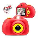 [16GB Memory Card Included] Veroyi Kids Camera 8.0MP Rechargeable Digital Front and Rear