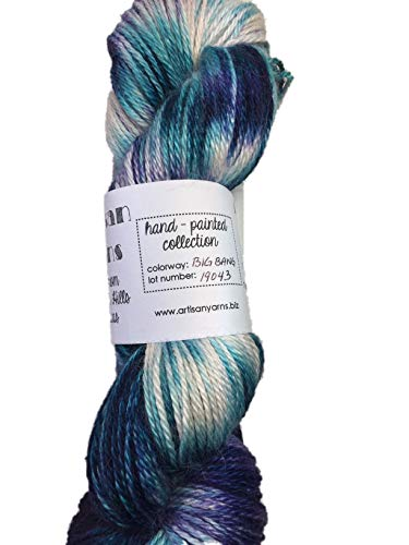 Hand Dyed Alpaca Silk Yarn, Hand Painted: Big Bang, Dk Weight, 100 Grams, 245 Yards, 70/30 Baby Alpaca/Silk