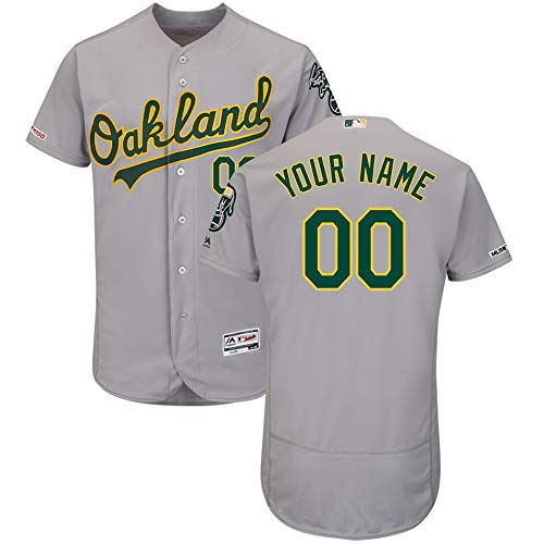 - VF LSG Baseball Uniform Sweatshirt Personalized Customized,Oakland Athletics T-Shirt Embroidered with Name and Numbers for Men Women Youth