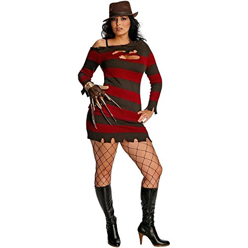 Warner Bros. Women's Nightmare On Elm Street Miss Krueger Plus Size Costume Plus (Miss Krueger Costume Plus Size)