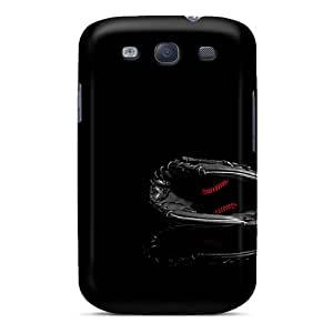 Galaxy S3 Hard Back With Bumper Silicone Gel Tpu Case Cover Blck Baseball