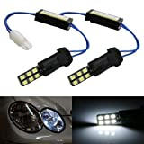 iJDMTOY (2) 100% Error Free 12-SMD W5W LED Replacement For Audi BMW Mercedes Parking Position Lights